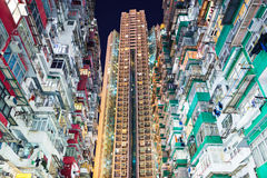 Overcrowded residential building Royalty Free Stock Photo