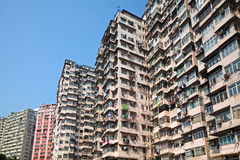 Overcrowded residential building Royalty Free Stock Image