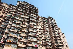Overcrowded residential building Stock Photo