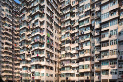 Overcrowded residential building Stock Photography