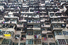 Overcrowded residential building Royalty Free Stock Images