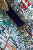 Overcrowded residential building in Hong Kong Stock Photos
