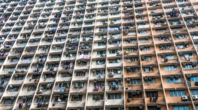 Overcrowded residential building in Hong Kong Royalty Free Stock Photos