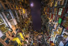 Overcrowded residential building in Hong Kong Royalty Free Stock Photo