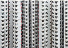 Overcrowded residential building in Hong Kong Stock Images