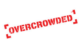 Overcrowded rubber stamp Royalty Free Stock Photography
