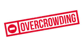 Overcrowding rubber stamp Stock Images
