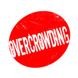 Overcrowding rubber stamp Royalty Free Stock Photo