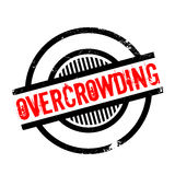 Overcrowding rubber stamp Stock Photography