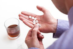 Overdose of pills Stock Image