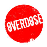 Overdose rubber stamp. Grunge design with dust scratches. Effects can be easily removed for a clean, crisp look. Color is easily changed Stock Photography