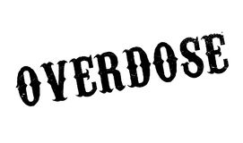 Overdose rubber stamp. Grunge design with dust scratches. Effects can be easily removed for a clean, crisp look. Color is easily changed Stock Images
