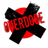 Overdose rubber stamp. Grunge design with dust scratches. Effects can be easily removed for a clean, crisp look. Color is easily changed Royalty Free Stock Images