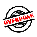 Overdose rubber stamp. Grunge design with dust scratches. Effects can be easily removed for a clean, crisp look. Color is easily changed Stock Photos