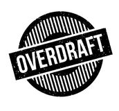 Overdraft rubber stamp. Grunge design with dust scratches. Effects can be easily removed for a clean, crisp look. Color is easily changed Royalty Free Stock Images