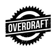 Overdraft rubber stamp. Grunge design with dust scratches. Effects can be easily removed for a clean, crisp look. Color is easily changed Stock Photo