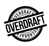 Overdraft rubber stamp. Grunge design with dust scratches. Effects can be easily removed for a clean, crisp look. Color is easily changed Royalty Free Stock Photos