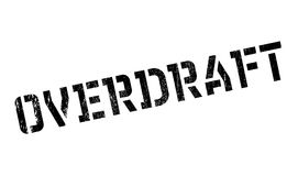 Overdraft rubber stamp Stock Images