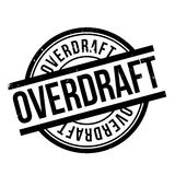 Overdraft rubber stamp Stock Photos