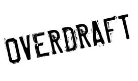 Overdraft rubber stamp. Grunge design with dust scratches. Effects can be easily removed for a clean, crisp look. Color is easily changed Stock Image