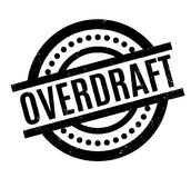 Overdraft rubber stamp. Grunge design with dust scratches. Effects can be easily removed for a clean, crisp look. Color is easily changed Royalty Free Stock Photo