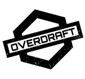 Overdraft rubber stamp. Grunge design with dust scratches. Effects can be easily removed for a clean, crisp look. Color is easily changed Royalty Free Stock Image