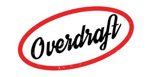 Overdraft rubber stamp. Grunge design with dust scratches. Effects can be easily removed for a clean, crisp look. Color is easily changed Stock Images