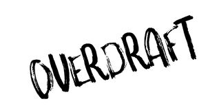 Overdraft rubber stamp. Grunge design with dust scratches. Effects can be easily removed for a clean, crisp look. Color is easily changed Stock Photos