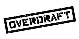 Overdraft rubber stamp Royalty Free Stock Photography