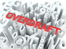 Overdraft. The Wordcloud Concept. Royalty Free Stock Photos