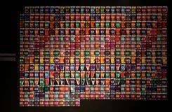 Overdreven kunstkalender royalty-vrije stock foto's