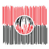 Overdreven streepjescode Stock Afbeelding