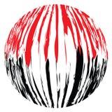 Overdreven zwarte en rode streepjescode Royalty-vrije Stock Foto