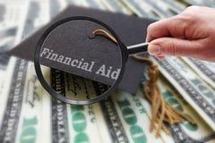 Overdrijf Financiële steun stock afbeelding