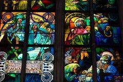 Overdrukplaatje van St Vitus Cathedral in Praag Stock Foto's
