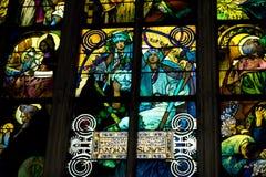 Overdrukplaatje van St Vitus Cathedral in Praag Royalty-vrije Stock Afbeelding
