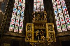 Overdrukplaatje van St Vitus Cathedral in Praag Royalty-vrije Stock Fotografie