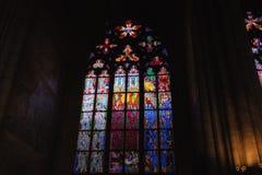 Overdrukplaatje van St Vitus Cathedral in Praag Royalty-vrije Stock Foto