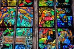 Overdrukplaatje van St Vitus Cathedral in Praag Stock Afbeeldingen