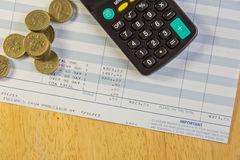 Overdue Account. A shot of an overdue bill or account to be paid Royalty Free Stock Photos