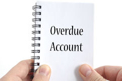 Overdue account text concept Royalty Free Stock Photos