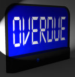Overdue Digital Clock Means Behind Time Or Past Due Royalty Free Stock Photo