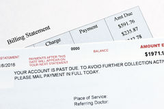 Overdue Hospital Bill Royalty Free Stock Images