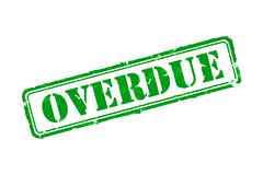 Overdue rubber stamp Stock Images