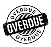 Overdue rubber stamp Stock Photography