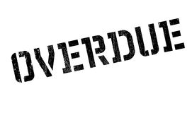 Overdue rubber stamp Royalty Free Stock Photos