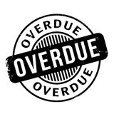 Overdue rubber stamp Royalty Free Stock Photography