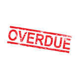 Overdue Rubber Stamp Royalty Free Stock Photo