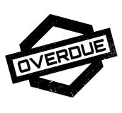 Overdue rubber stamp Royalty Free Stock Image