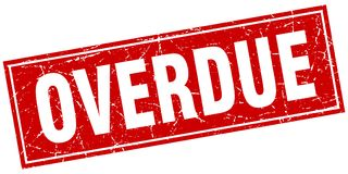 overdue stamp vector illustration